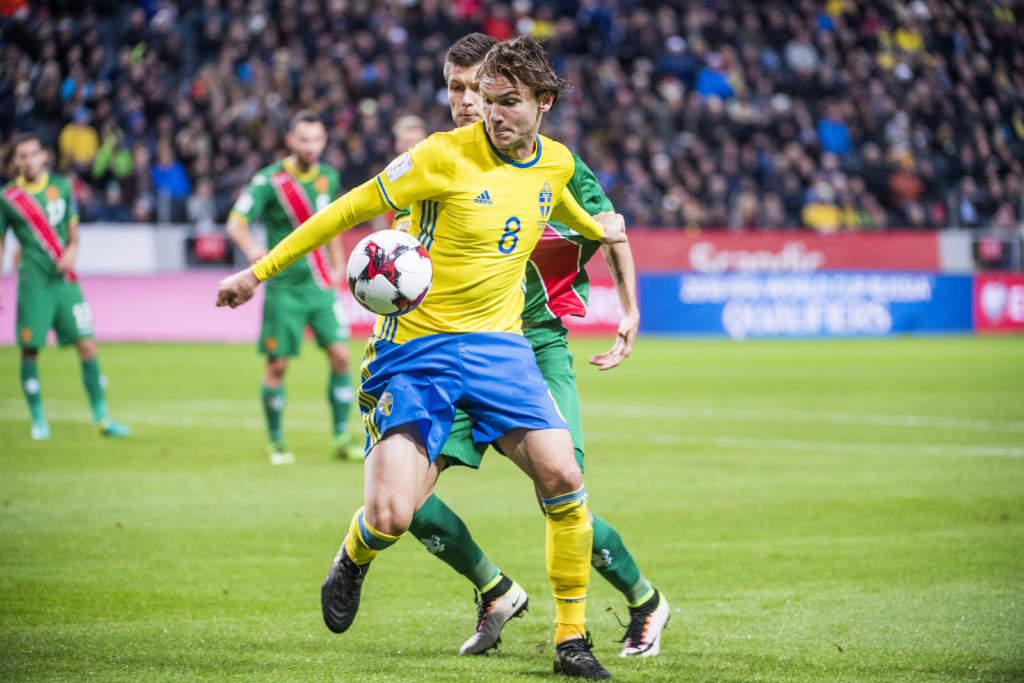 vm-kval, sverige - bulgarien, 3 - 0, albin ekdal, fotbollsspelare sverige, match action landslaget